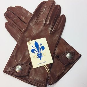 Vintage leather driving gloves Italy Small